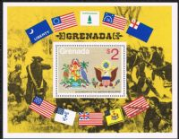 Grenada SGMS704(1) 1975 Bicentenary of American Revolution (1st issue) Miniature Sheet unmounted mint (1st sheet)